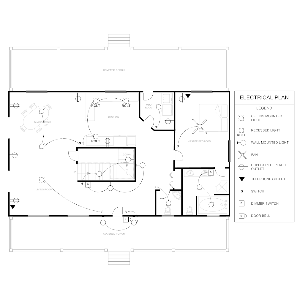 How To Create House Electrical Plan Easily With Regard To: Electrical Plan