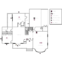 house plan with security layout - Electrical Floor Plan Software