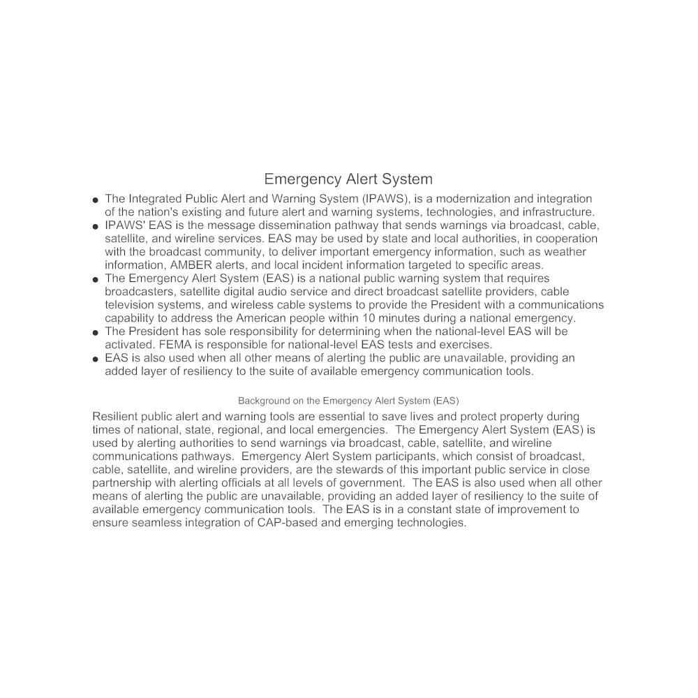 Example Image: Emergency Alert System (EAS)