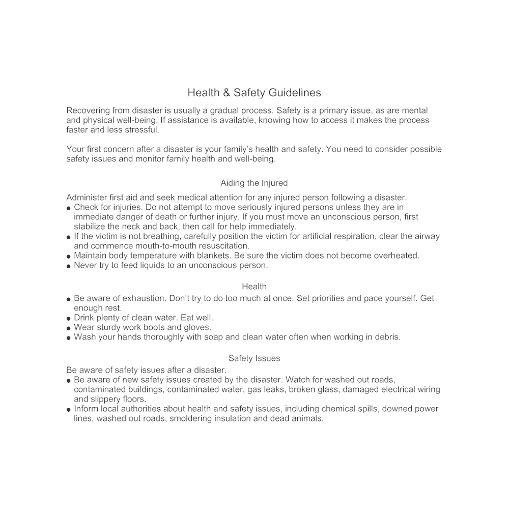 Example Image: Health & Safety Guidelines