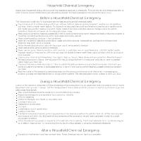 Household Chemical Emergency