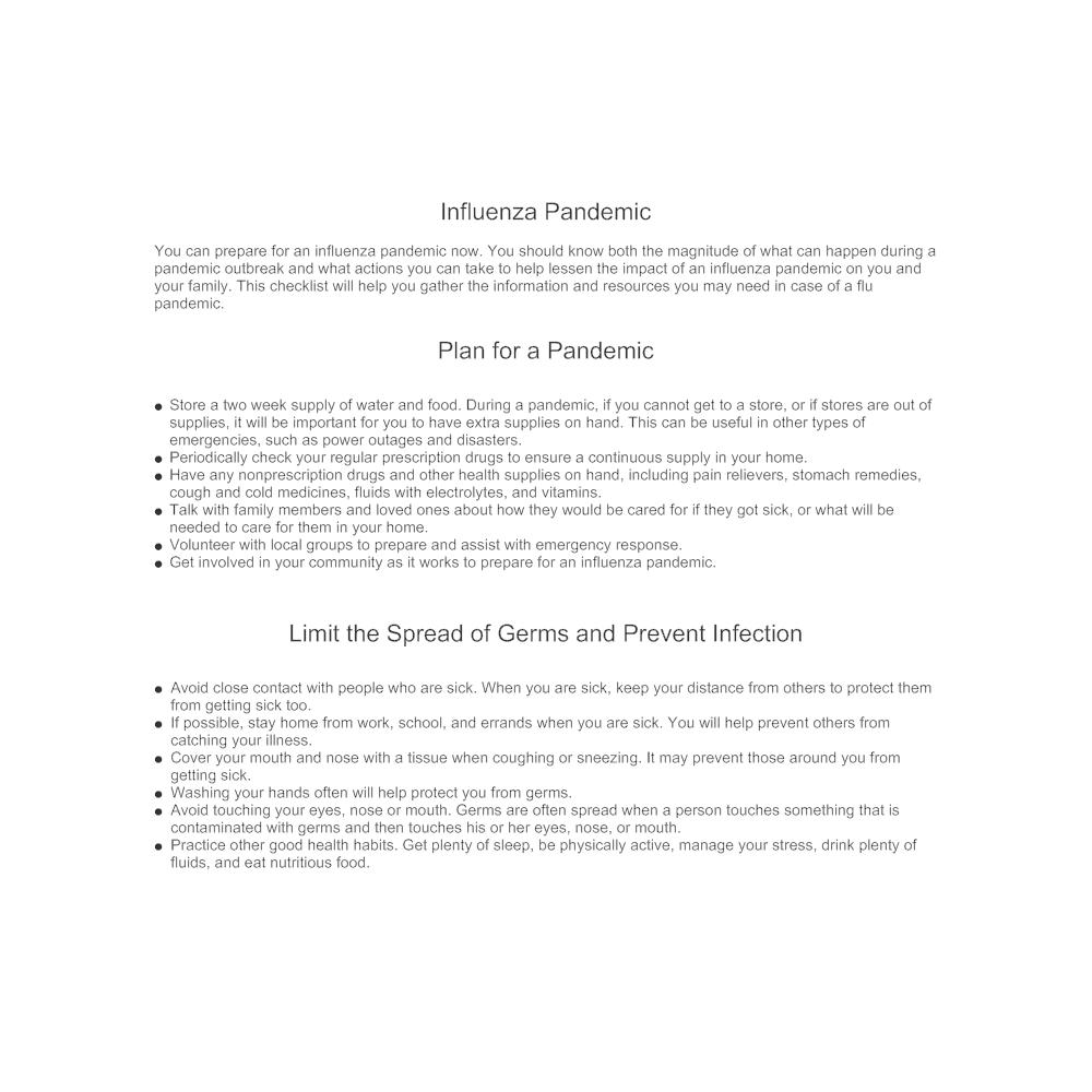 Example Image: Influenza Pandemic