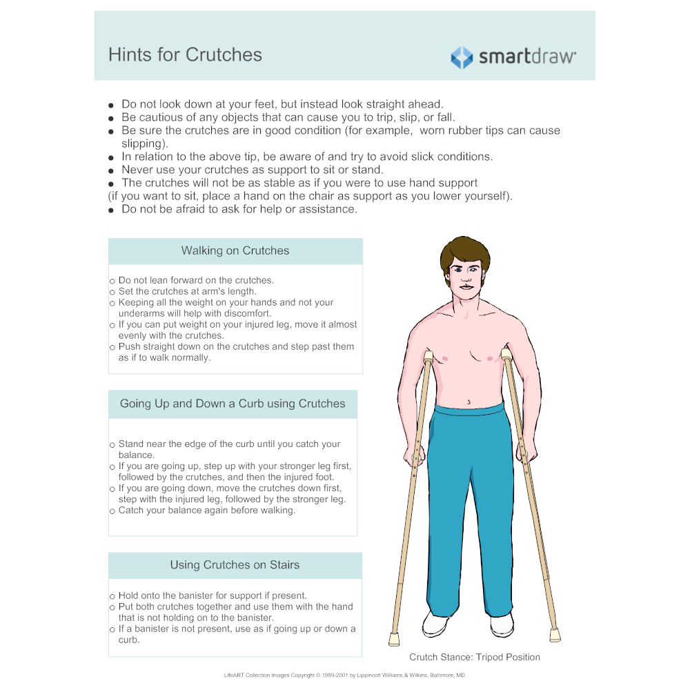 Example Image: Hints For Crutches Handout