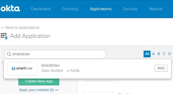 Add SmartDraw in Okta