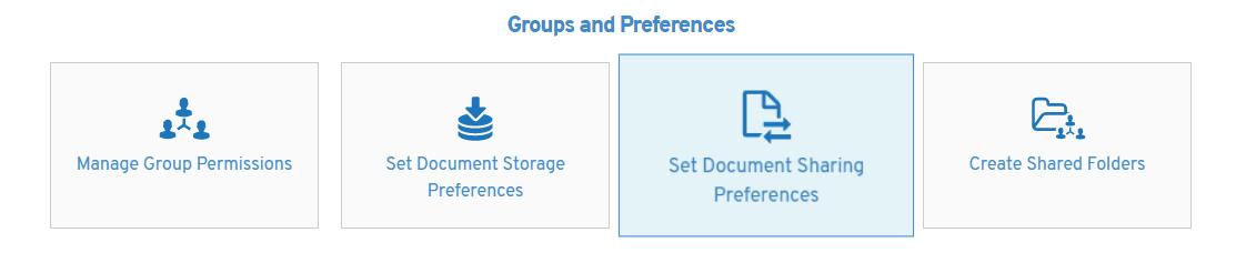 Set Sharing Preferences