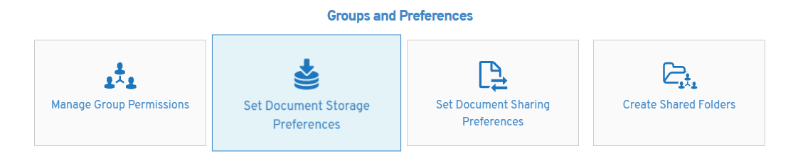 Choosing storage preferences