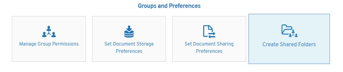 Create shared folders