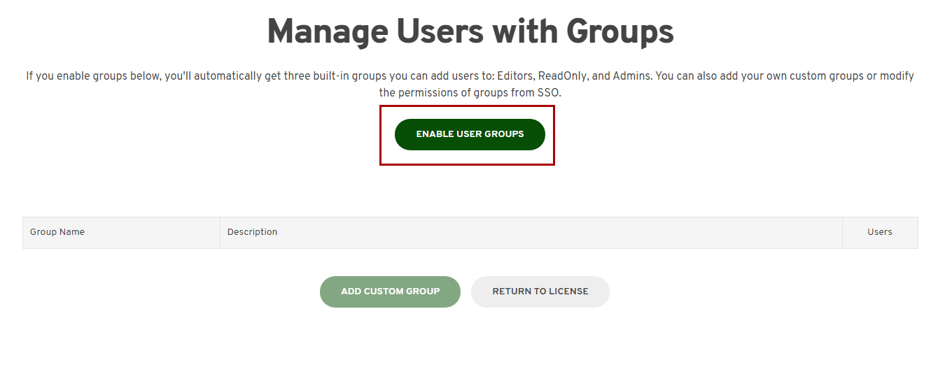 Enable groups