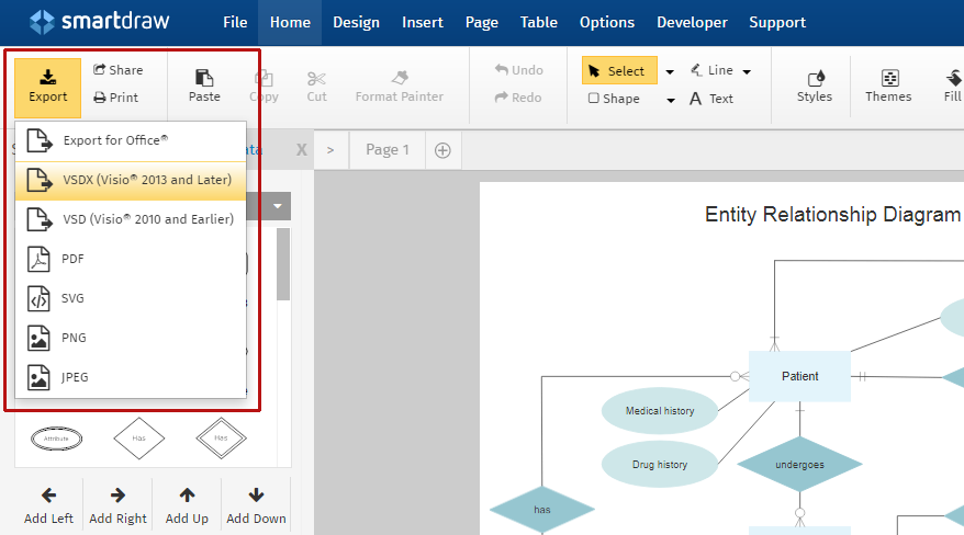 Export to Visio