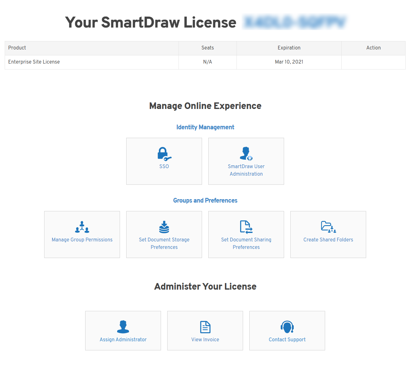 Managing your license