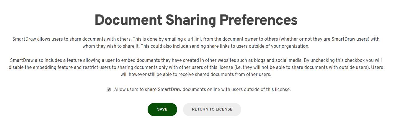 Disable sharing