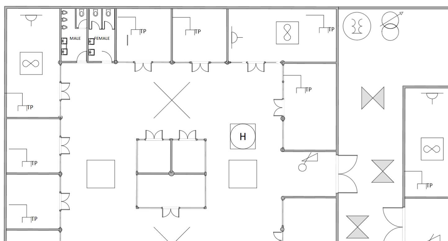 Converted Visio electrical plan in SmartDraw