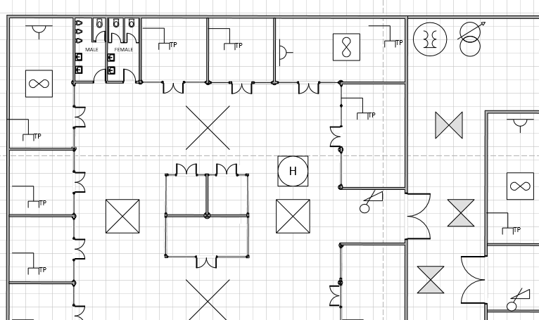 Electrical plan in Visio