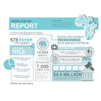 Worldwide Report Infographic Template