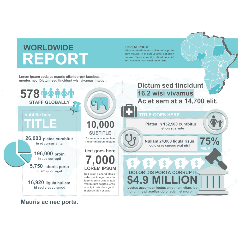 Example Image: Worldwide Report Infographic Template