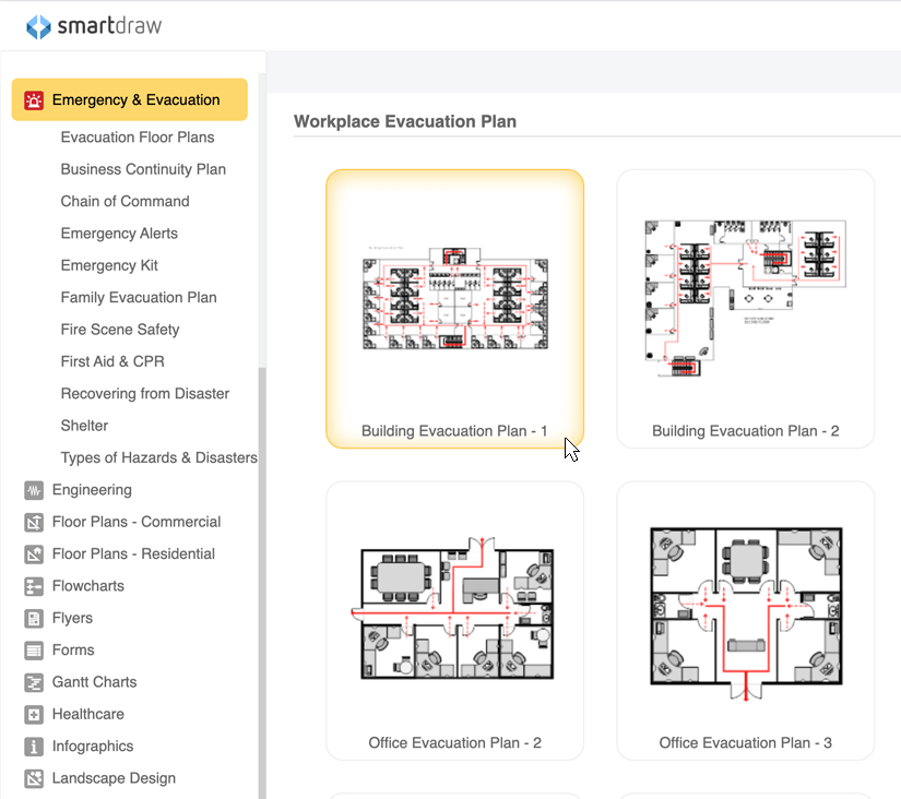 Fire escape plan maker free online app templates download for Fire evacuation plan template for office