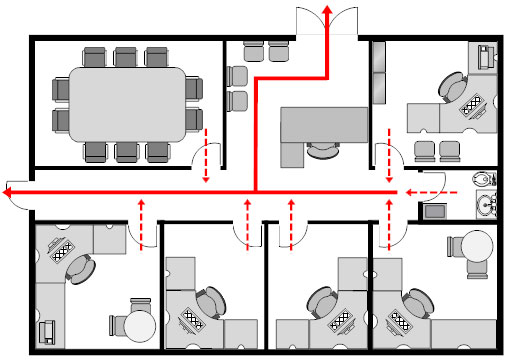 Evacuation plan how to prepare make a plan examples office evacuation plan template sciox Images