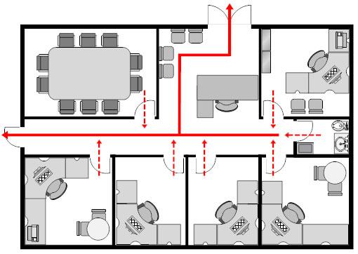 Office evacuation plan template