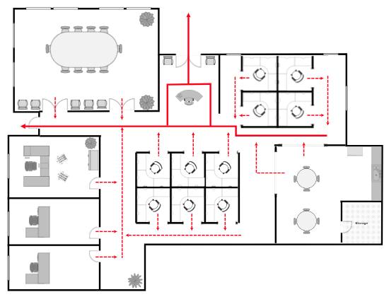 Office fire escape plan