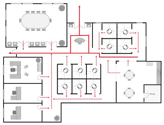 Office fire escape plan