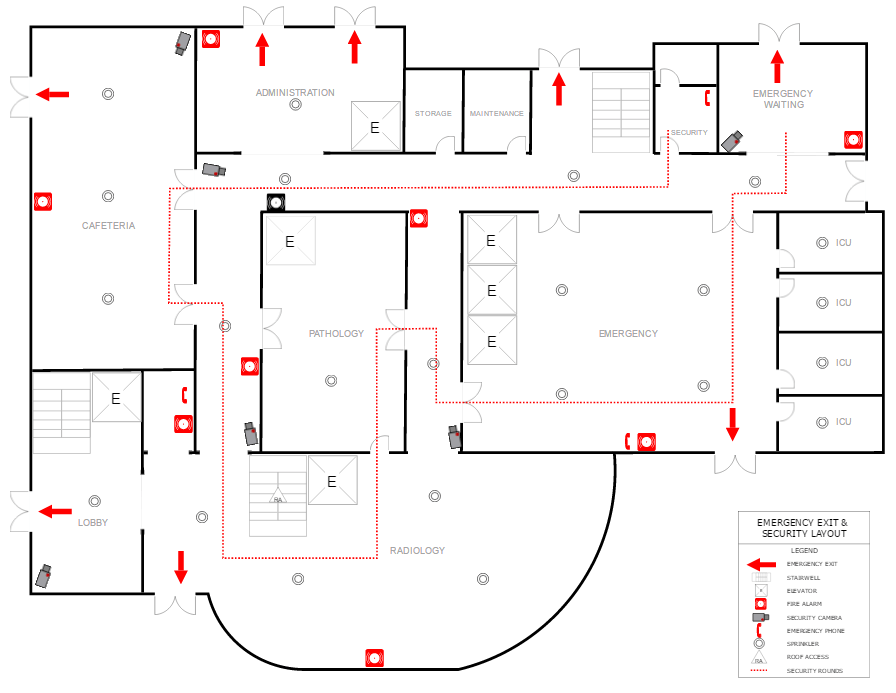 Fire evacuation plan example