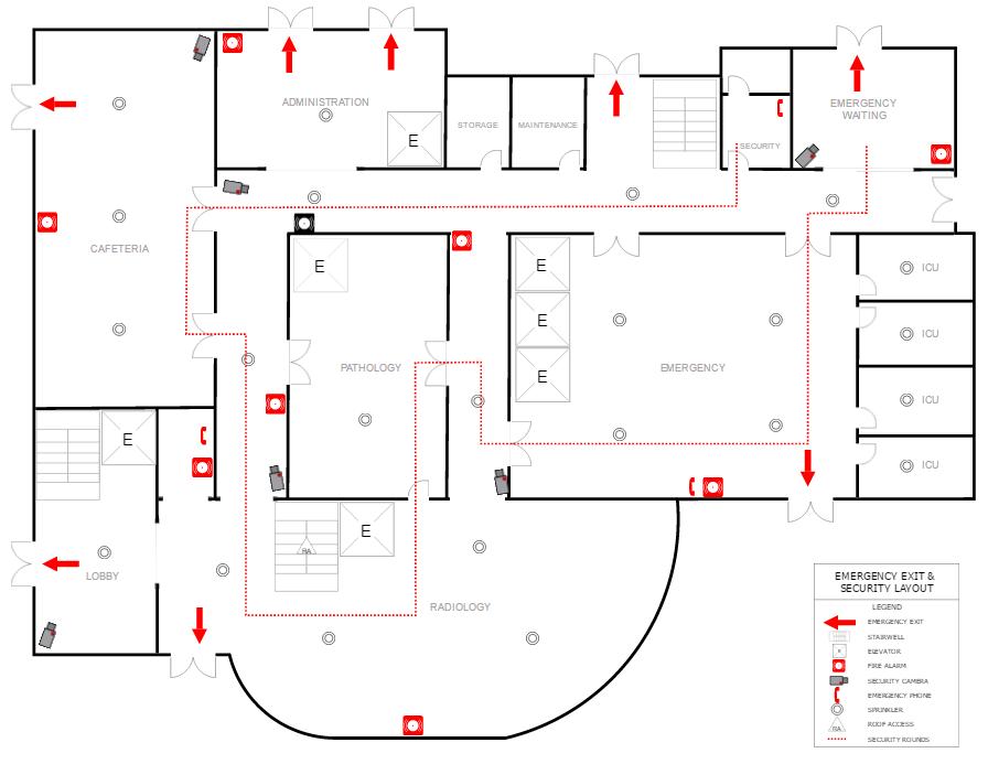 Fire evacuation plan example
