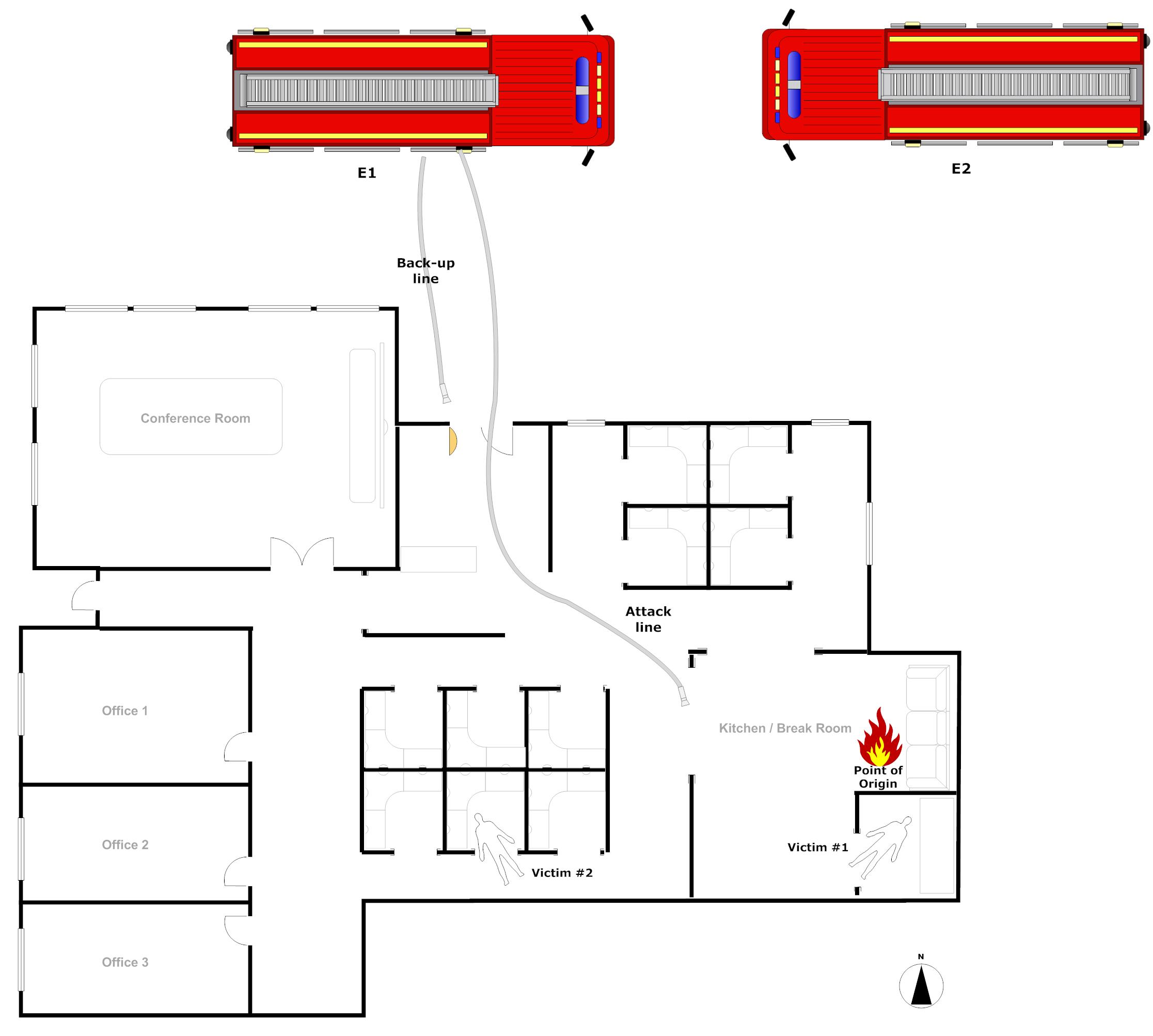 Fire scene diagram