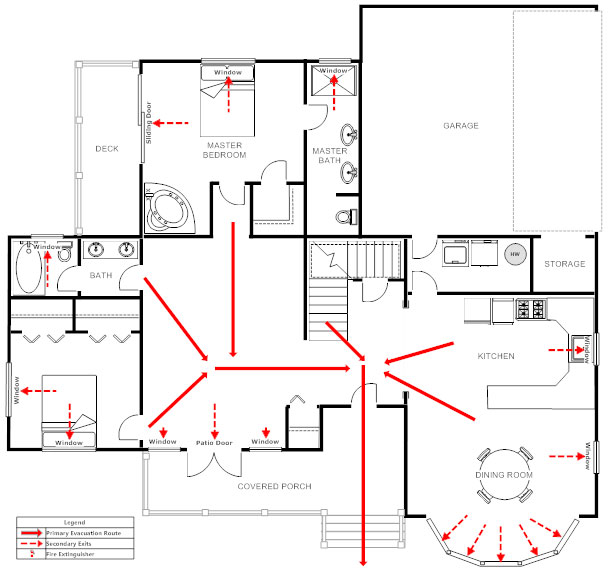 Home evacuation plan template