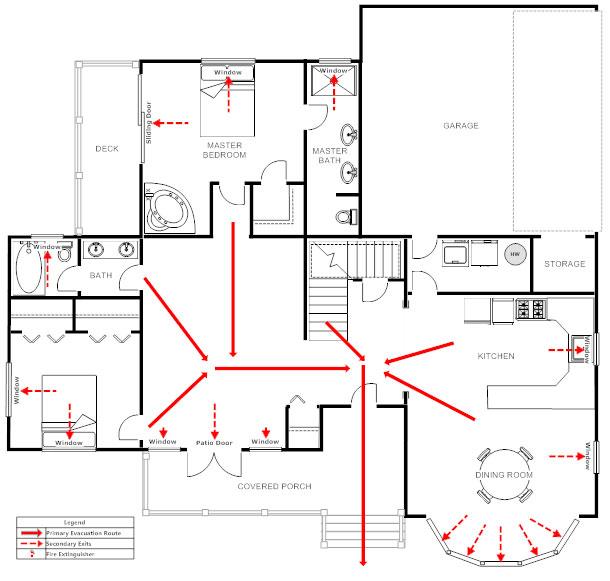 Home evacuation plan template