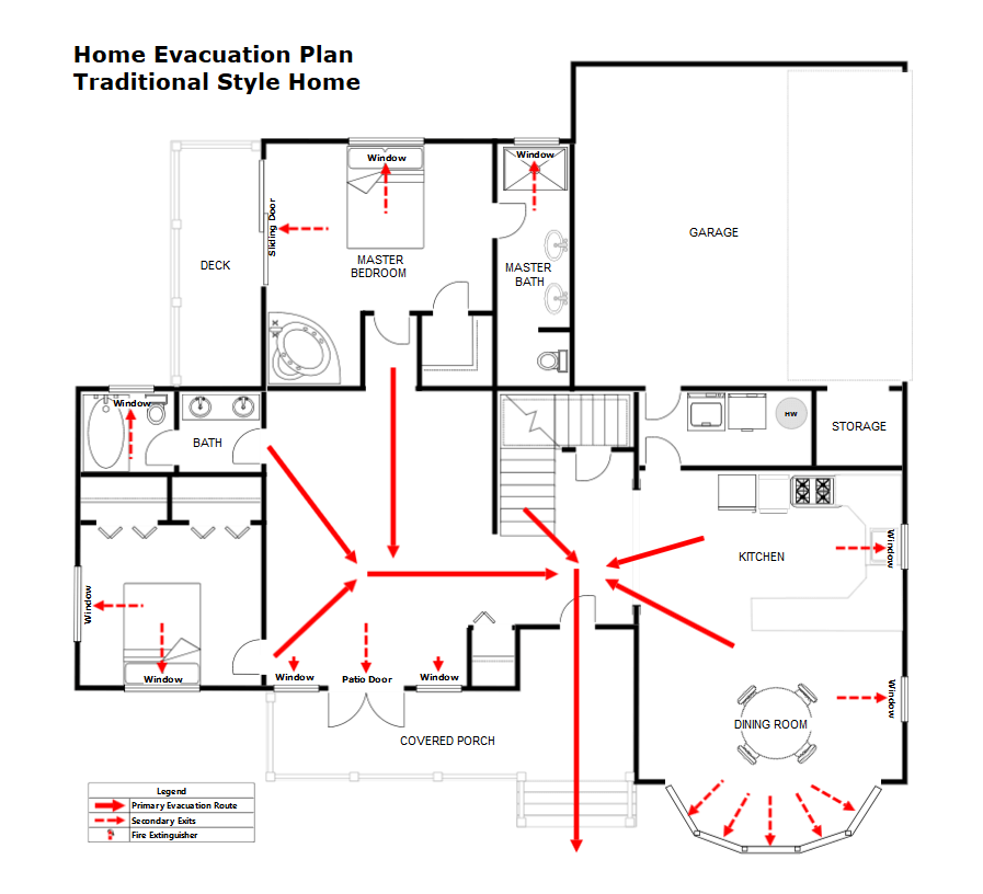 Fire Escape Plan Maker - Make Fire Pre-Plan Templates for