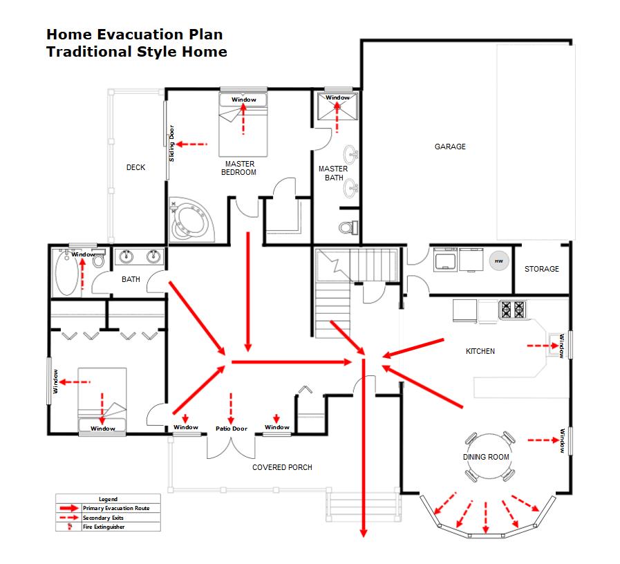 Fire Escape Plan Maker Make Fire Pre Plan Templates For Pre Incident Planning