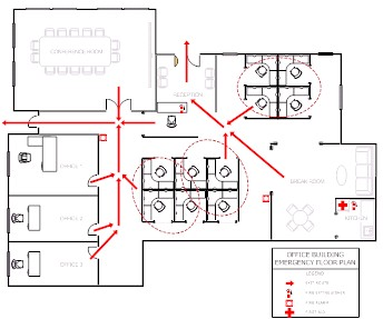 House fire evacuation plan home design and style for Fire evacuation plan template for office