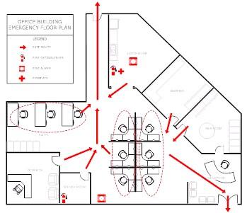 Evacuation plan example