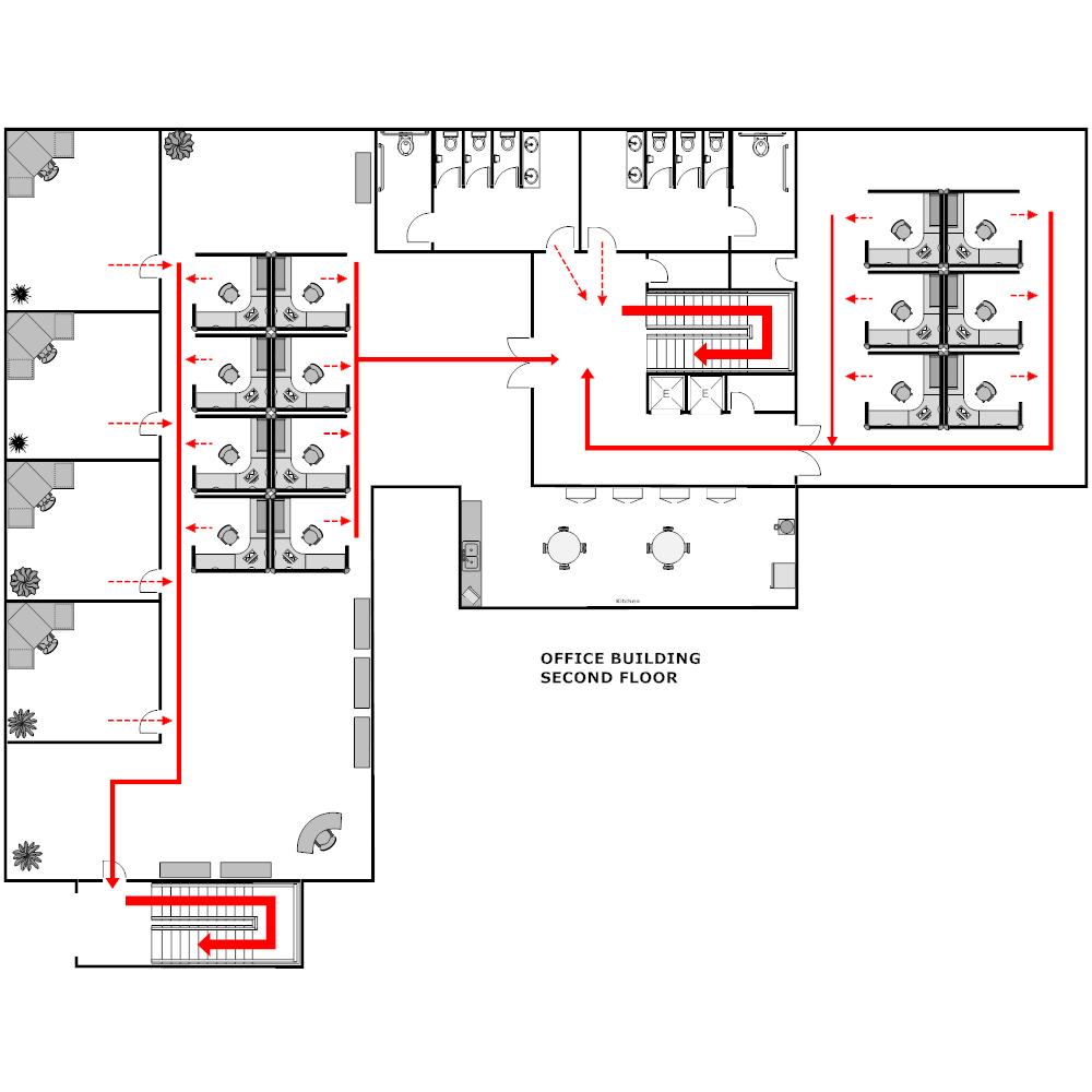 Example Image: Building Evacuation Plan - 2