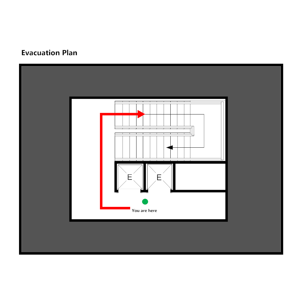 Elevator evacuation plan 1 for Elevator plan drawing