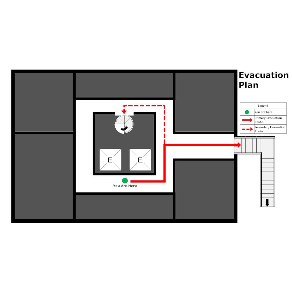 Example Image: Elevator Evacuation Plan - 3