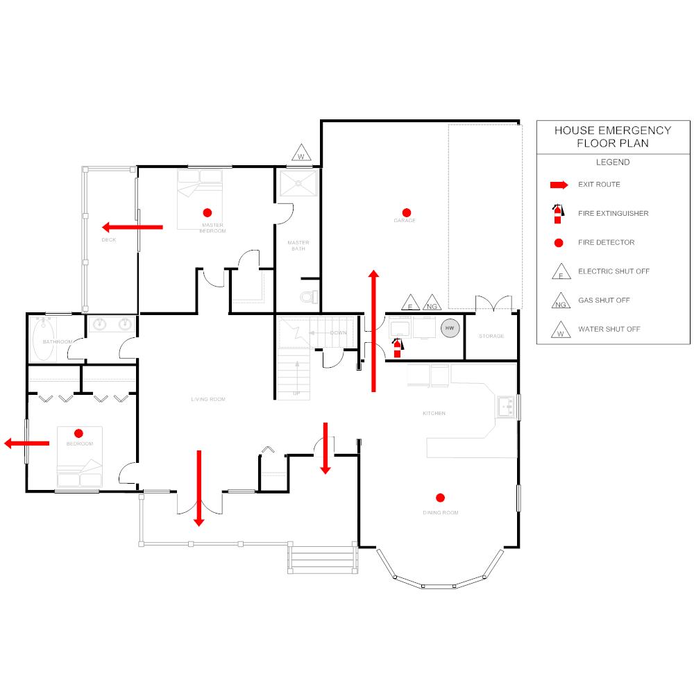 Example Image: Emergency House Layout