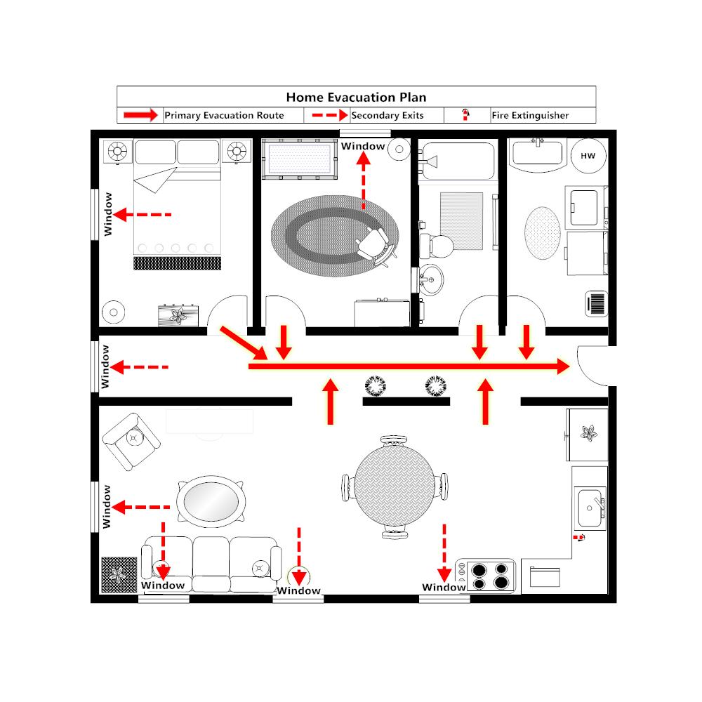 home evacuation plan 1. Black Bedroom Furniture Sets. Home Design Ideas