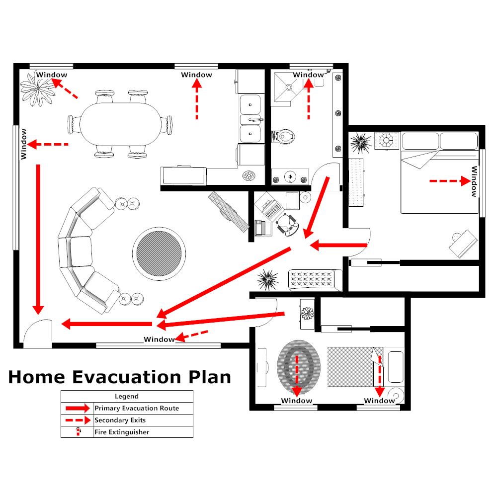 Example Image: Home Evacuation Plan - 2