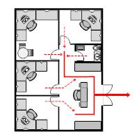 Evacuation plan templates office evacuation plan 1 sciox Image collections