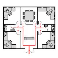 Evacuation plan templates office evacuation plan 3 sciox Image collections