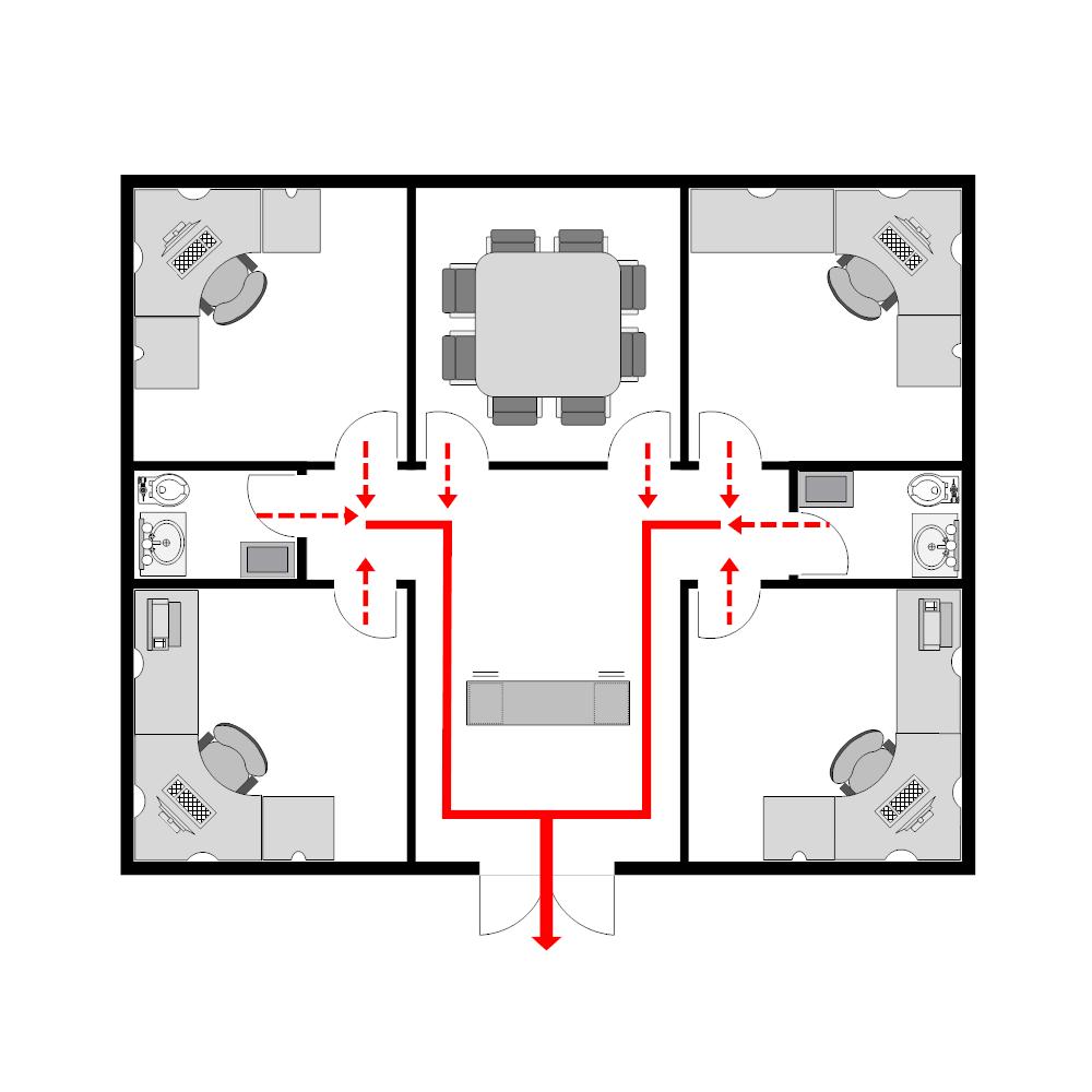 Example Image: Office Evacuation Plan - 3