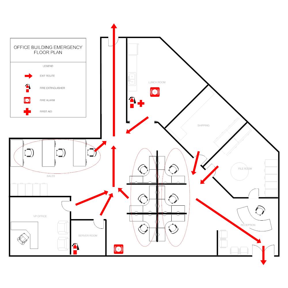 Example Image: Office Evacuation Plan