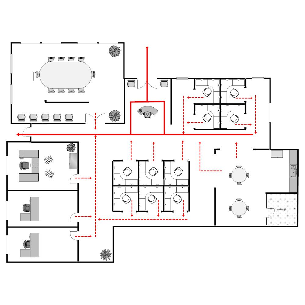 Example Image: Workplace Evacution Plan