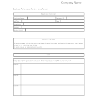 performance evaluation template for employees