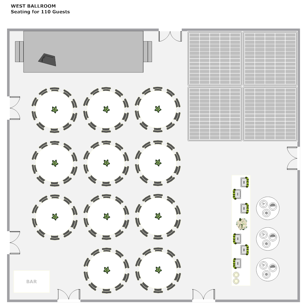 Example Image: Banquet Hall Layout