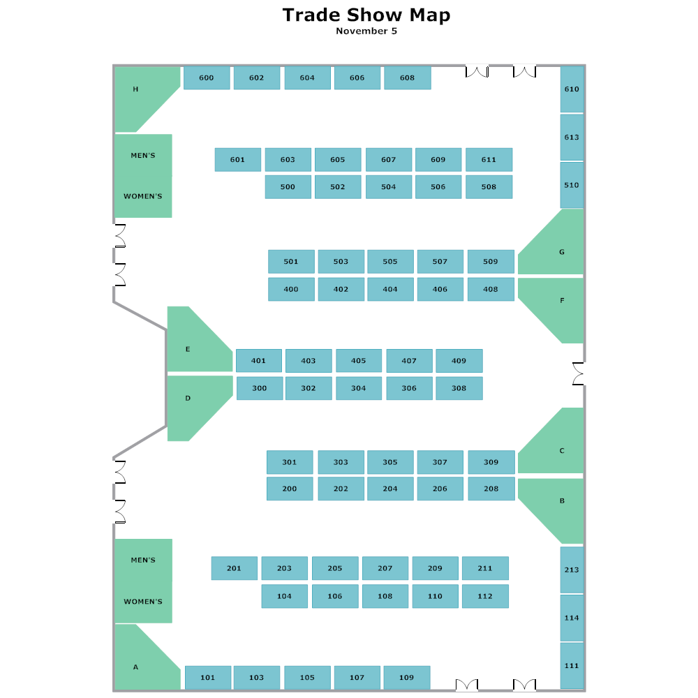 Example Image: Trade Show Map