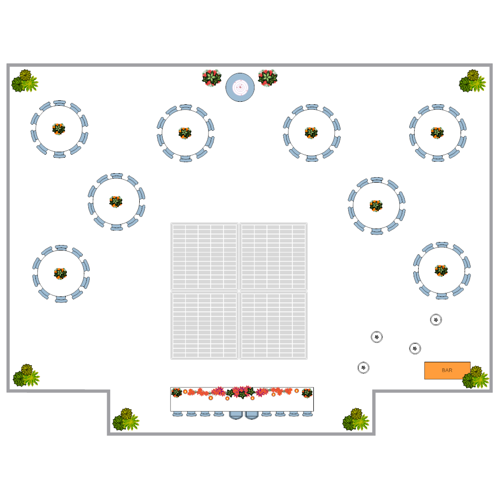 Example Image: Wedding Reception Layout