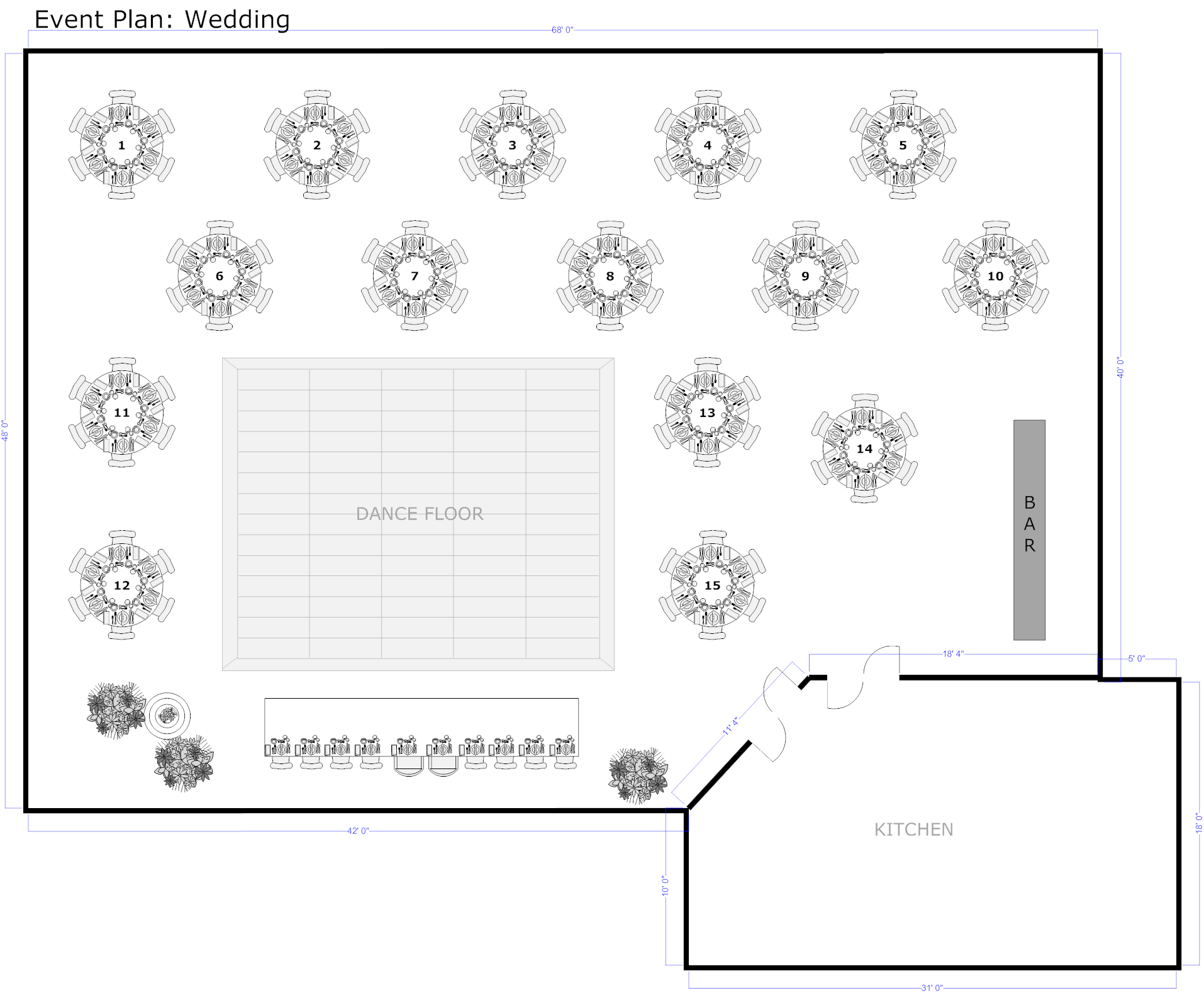 Event planning software try it free for easy layout for Wedding floor plan template