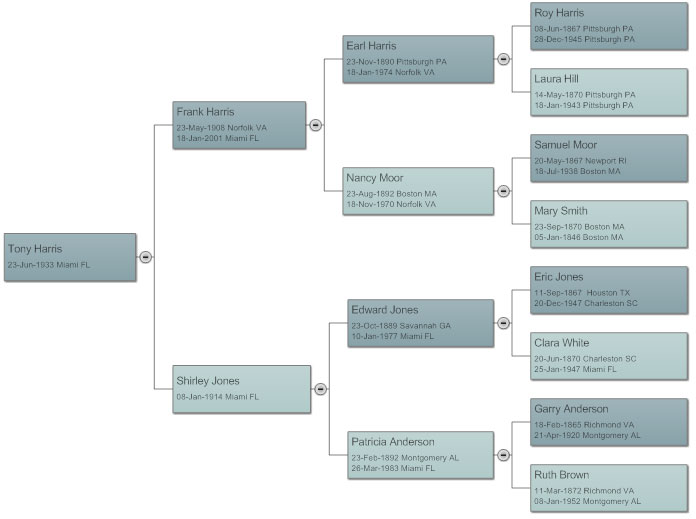 Online Family Tree Template from wcs.smartdraw.com
